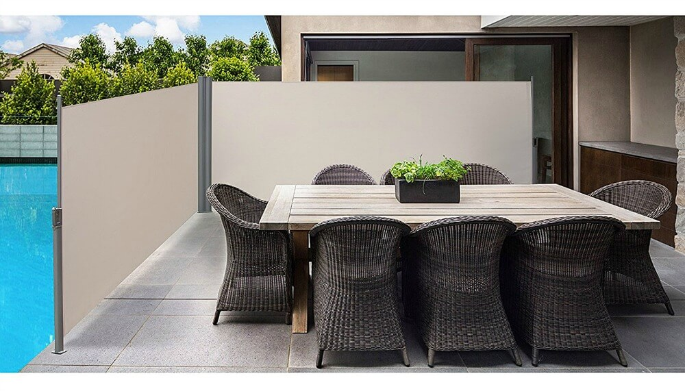 doppel seitenmarkise sicht und sonnenschutz in einem test 2018. Black Bedroom Furniture Sets. Home Design Ideas